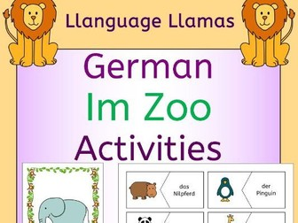 German Zoo Animals - Im Zoo - Activities Pack