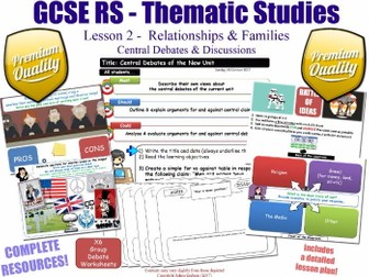 Relationships & Families - Central Debates - L2/10 [GCSE RS - Thematic Studies - Christian Views]