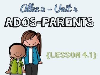 Allez 2 - Unit 4.1 - les ados et les parents - object pronouns - complex sentences - KS3 French