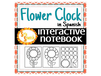 Flower Clock Interactive Notebook Sheet