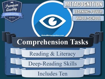 Metacognition Reading Comprehensions (x10) [Metacognitive Tool - 15/20]