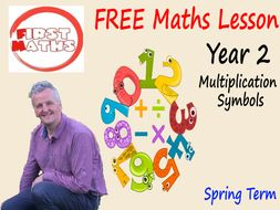 The  Multiplication Symbols YouTube  Maths PowerPoint Presentation - Year 2 Spring Term