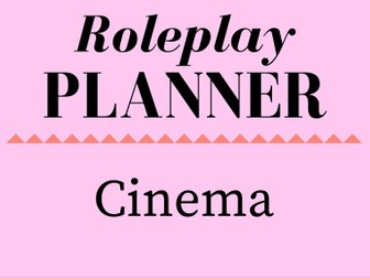 Cinema Role Play Storyline Planner