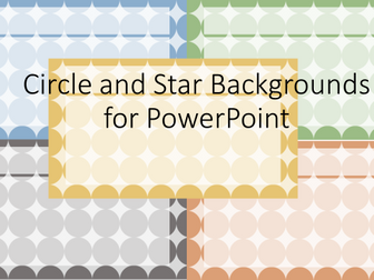 Circle and Star Backgrounds for Powerpoint