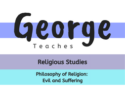 Philosophy of Religion: Evil and Suffering