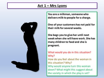 Blood Brothers Mrs Lyons Introduction