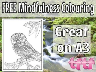 End of Term Art - Mindfulness Colouring Page FREE!
