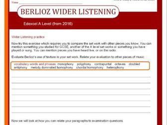 Edexcel A Level Music (2016-) Berlioz Wider Listening