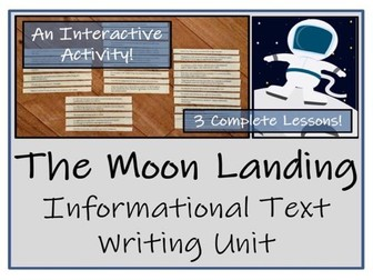 UKS2 History - The Moon Landing Informational Text Writing Unit