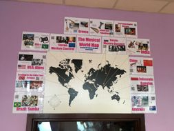 Musical World Map Display