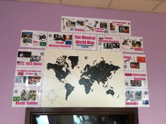 Musical World Map Display