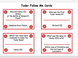 Tudor 'Follow Me' Cards
