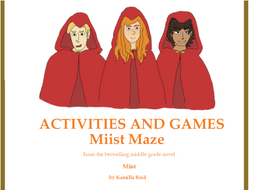 Maze Worksheet inspired by the middle grade novel, Miist