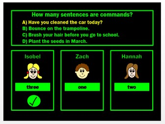 Sentence Types PPT Powerpoint Game by Grammatickx