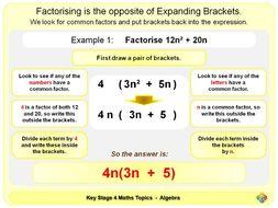 Factorising Algebraic Expressions KS4