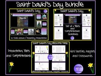Saint David's Day Resource Bundle