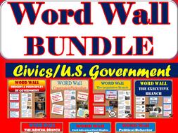WORD WALL Posters BUNDLE (CIVICS)