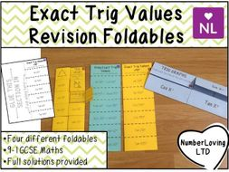 Exact Trig Values GCSE 9-1 Foldables