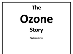 The Ozone Story OCR B A-Level Chemistry Notes by