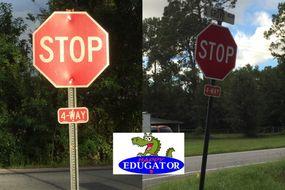 Dollar Stock Photos - Stop Signs (4 way) Road Sign Photographs