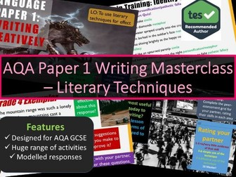 Creative Writing Masterclass - Devices and Techniques