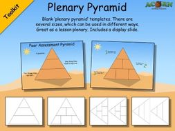 plenary pyramid templates by acornteachingresources teaching