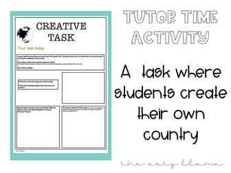 Creative Tutor Time Activity