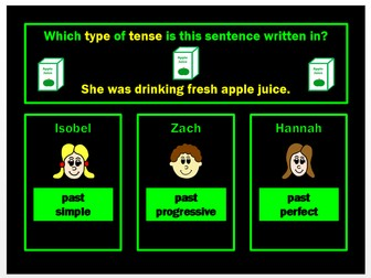 Tenses PPT Powerpoint Game by Grammatickx