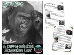 Differentiated Nonfiction Unit: Gorillas
