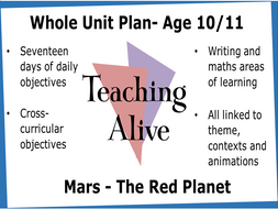 Age 10/11 Whole Unit Reading, Writing, Maths and Cross-curricular Plan: Mars- The Red Planet