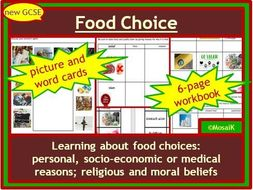 Food Technology GCSE Food Choice