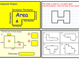 Perimeter and Area of Compound Shapes (notebook)