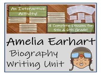 UKS2 History - Amelia Earhart Biography Writing Unit