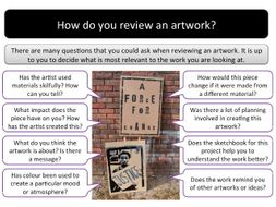 Student exhibition review lesson and worksheet / booklet