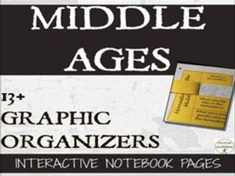 Middle Ages Interactive Notebook Graphic Organizers for Medieval Times
