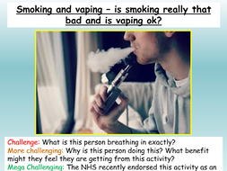 Vaping and Smoking - Health PSHE 2020