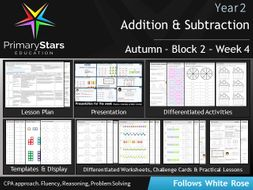YEAR 2 - Addition Subtraction - White Rose - WEEK 4 - Block 2 - Autumn - Differentiated Resources