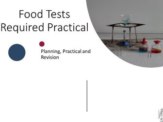 Food Tests Required Practical Planning with 9-1 Questions and Answers