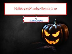 halloween number bonds to 10 powerpoint presentation counting