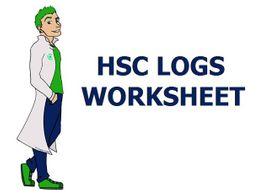 Logs Worksheet with Answers Yr 12