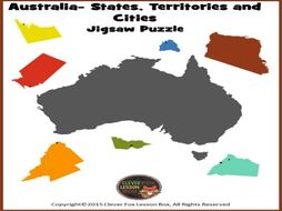 Australian map jigsaw cut out by suzeyuill teaching resources tes australian map jigsaw cut out gumiabroncs