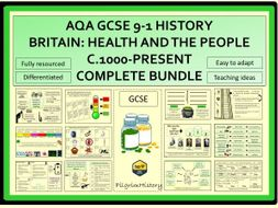 Britain Health and the People AQA GCSE 9-1 Complete Bundle