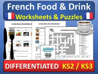 French Food Worksheets (La Nourriture)