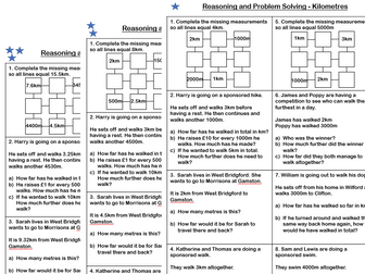 White Rose Maths - Year 4 - Block 3 - Kilometres (Problem Solving)