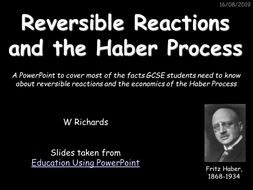 GCSE Reversible reactions and the Haber Process