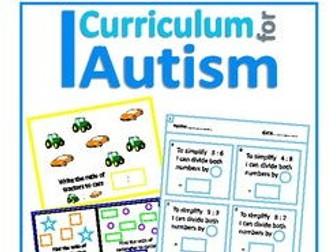 Ratio Count, Write, Match & Simplify Unit, Autism Special Education (Discounted Bundle)