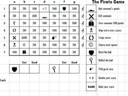 Pirate Game Grid Generator
