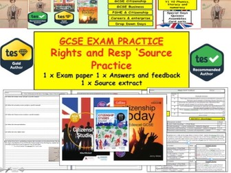 Rights and Responsibilities - Source Practice for GCSE Citizenship