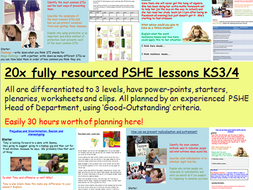 PSHE Curriculum 2020 Lessons