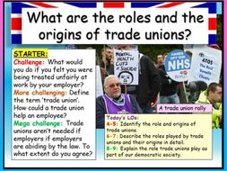 Trade Unions - Edexcel Citizenship